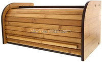 Pure Bamboo Modern Bread Box with a roll top for easy access and to keep bread fresh