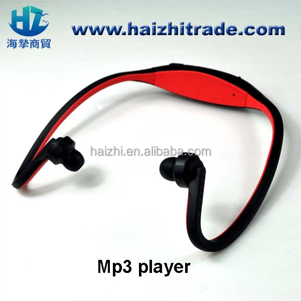 headset mp3 <strong>player</strong> wireless sport mp3 music <strong>player</strong> manual with TF card headset for sports