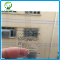 Waterproof self adhesive PVC glass semi transparent sticker label sheet, Transparent sticker for glass