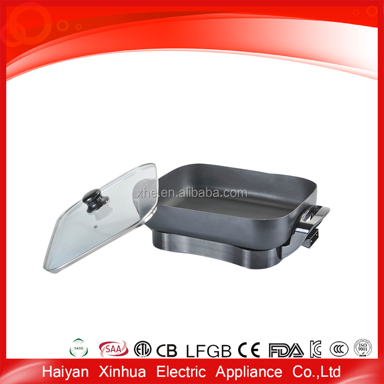 New model professional smokeless divided frying pan