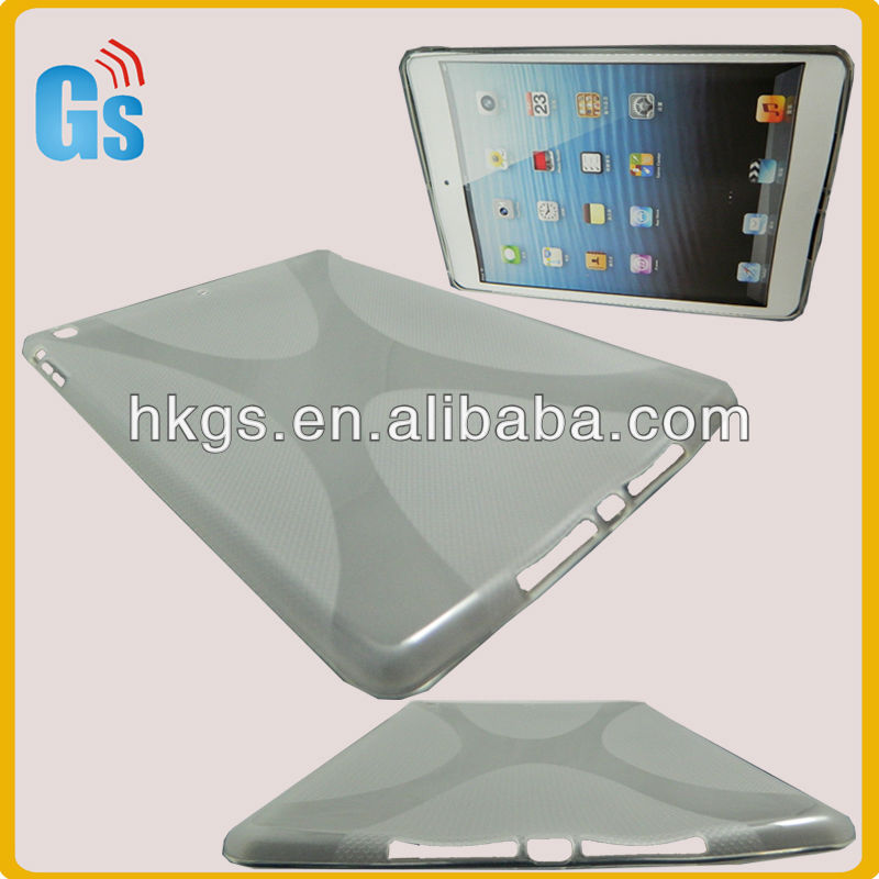 Clear tpu belt case cover accessory for ipad 5