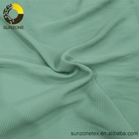 Keqiao direct factory bubble crepe chiffon spendex polyester fabrics for dress ladywear