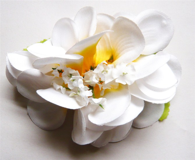 artificial silk flower heads hair accessories