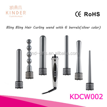 rhinestone bling bling curling wand set