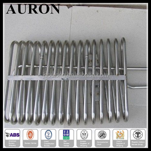 AURON/HEAWELL ABS BV GL DNV ISO OHSAS CE Stainless steel 316 coal gas tube/SS 316 condenser tube gas/SS316 cooling gas coil
