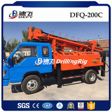DTH Hammer DFQ-200C Air Compressor Bore Well Drilling Truck