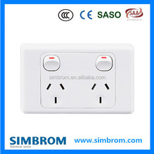 SAA Autralia on off socket switch,Rounded corners home appliance wall wireless chargers,socket switch