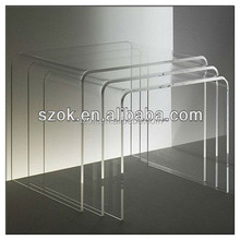 nesting acrylic end table