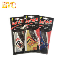 Wholesale CMYK Printed Custom Shoes Shaped Hanging Paper Car Air Freshener For Car