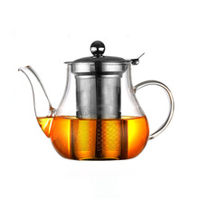 Wholesale heat resistant glass teapot with stainless steel infuser