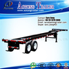 2017 brand new 20-40ft Container Truck Semi Skeletal Trailer Frame / Chassis from 20-80Tons