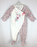 hot sale Spring & Autumn 100% cotton baby romper, sleep and play toddler rompers plain white baby