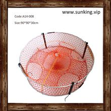 Cheap price crab trap/crawfish trap pvc welded mesh fishing net