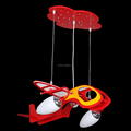 Rotate the helicopter creative fashion and personality children bedroom cartoon dome light color light