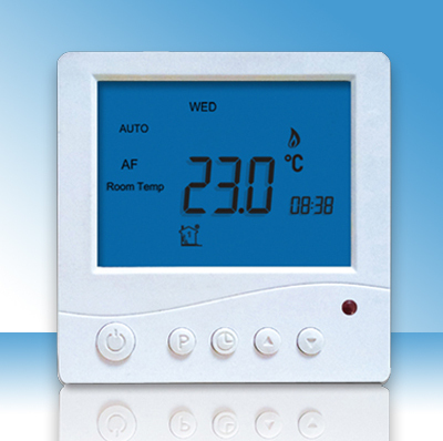 Remote control room thermostat with 6 events programing set