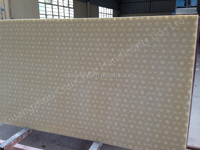 faux stone translucent backlit resin bar counter wall sandwich panel