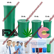 Green Pop Snap vials bottles Jar Rx top cap cannabis lid hinged plastic containers