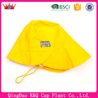 Hot sell high quality promotional folding waterproof yellow rain hat