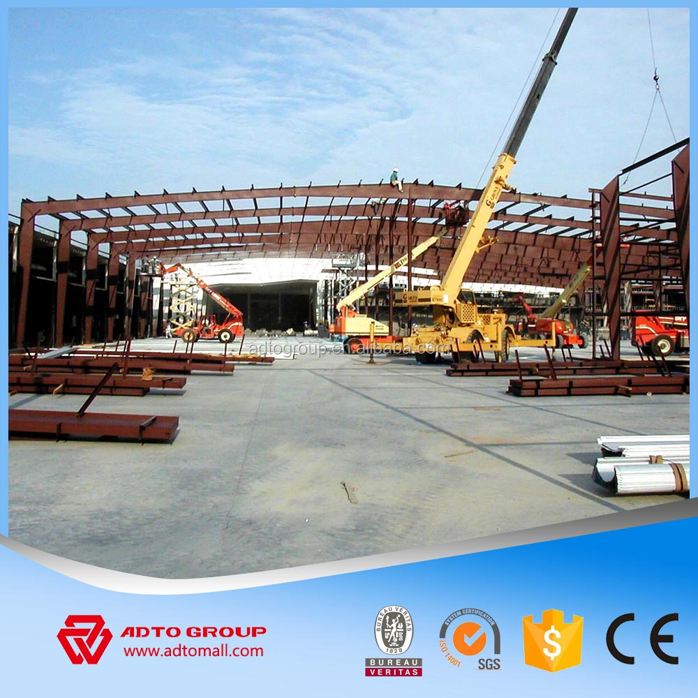 HOT Q235 Q345 Light Structural Fabrication Steel Structures Frame Single-story for Barns Warehouse Construction with Drawings