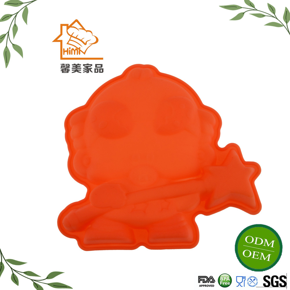 HIMI Food Grade Funny Doll Shaped Silicone Cake Mold,Kitchen cake making mould