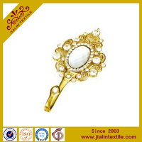 Crystal diamond decoration hook metal hanger hook curtain hook