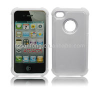 White Flat Sublimation Cell Phone Case Supplier For Iphone4 Case