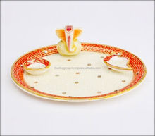 Marble decorative pooja thali