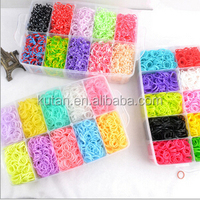 2014 very hot DIY Three Layers 12000 bands per bag Wholesale Rainbow Band Loom Kit Original, Loom Band Kit For Children Riddle