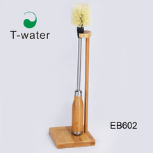 EB602 Eco-friendly custom logo natural bamboo bottle cleaning <strong>brush</strong>