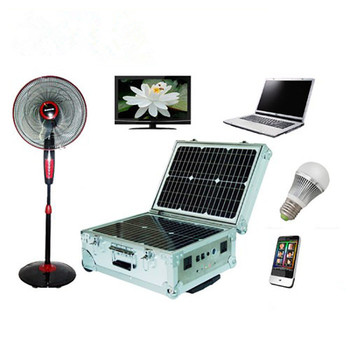 40W portable off grid solar system for camping and travelling
