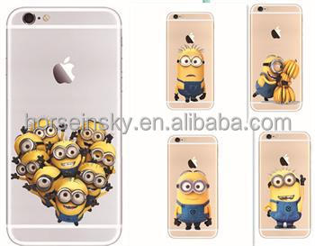 Cartoon Minions Despicable me Soft TPU Phone Case Cover For iPhone5/5s/6/6 plus
