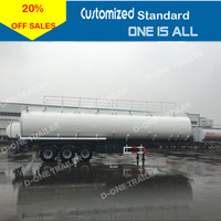 D-one New tanker trailer,tri-axles 45M3 5 compartment fuel oil tanker trailer
