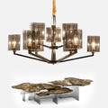 Black Contemporary Chandelier Modern square glass pendant lights for hotel