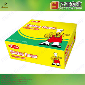 Halal High-quality Compound seasoning Chicken Bouillon Cubes