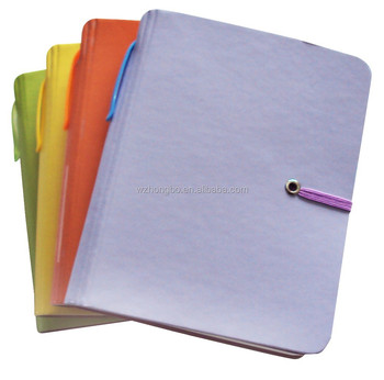 colorfull notebook with elastic