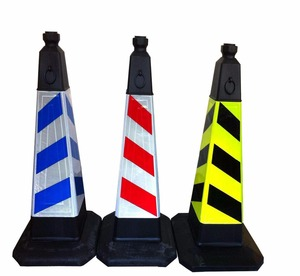 Colored road warning different size triangle PE traffic cone