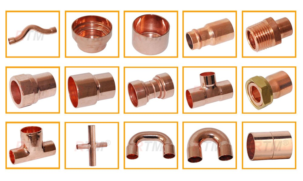 J18 90 degree cxc or cxf elbow fitting plumbing supply air for Copper pipe cost