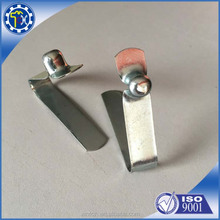 Custom precision spring steel belt clip metal flat spring clip with high quality