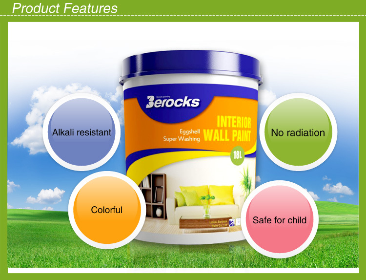Water based Water-proof Acrylic resin non stick Interior wall paint