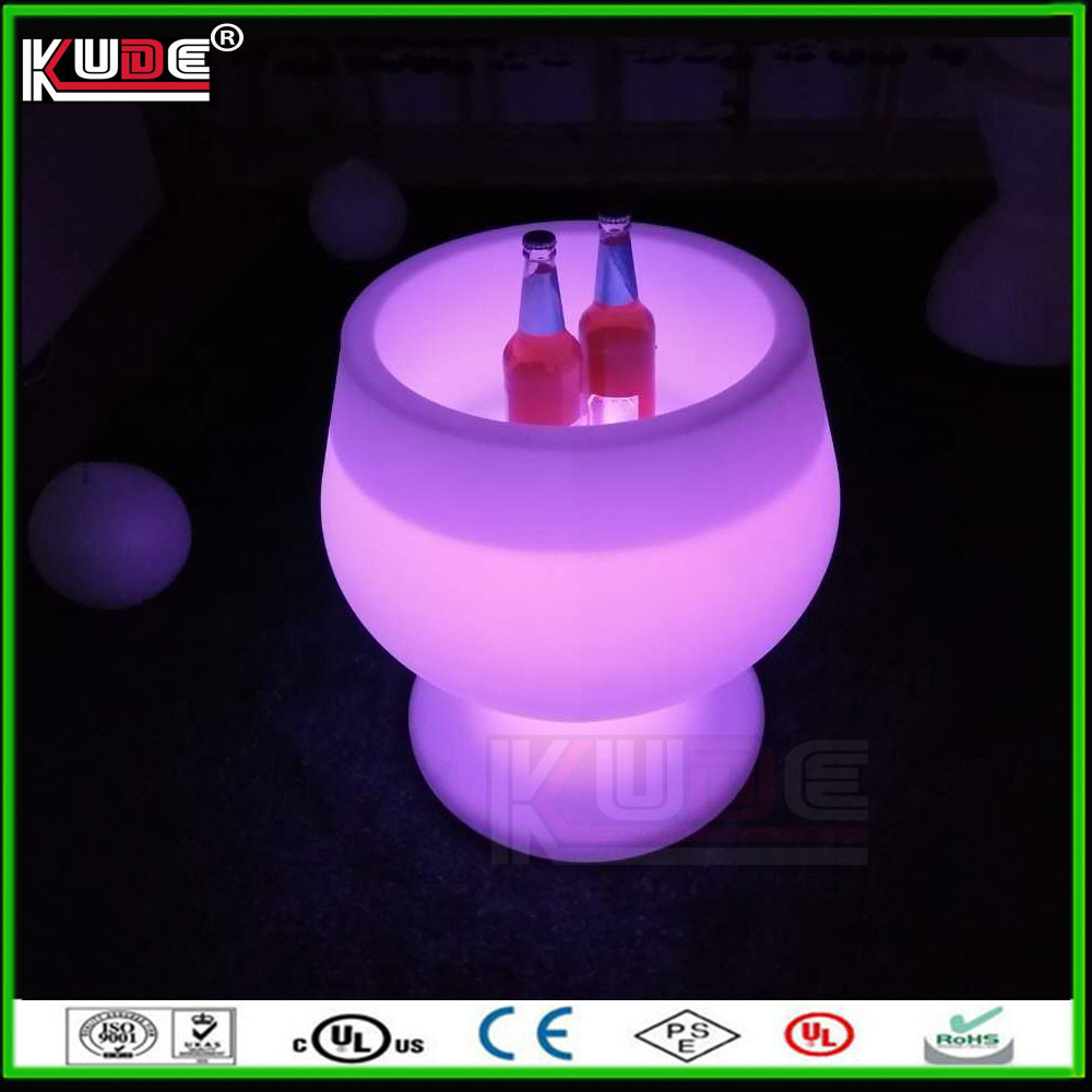 plastic wine ice bucket outdoor events LED plastic ice buckets for commercial