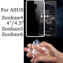 0.3mm Ultra thin Clear Crystal Transparent TPU Soft Cover Case For ASUS Zenfone 6 5 4 A400CG ZenFone4 4.5'' A450CG Zenfone6