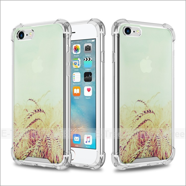 Shockproof Tpu Frame Clear PC Hard Print Picture Case For Apple iPhone 7 For iPhone 3D Case