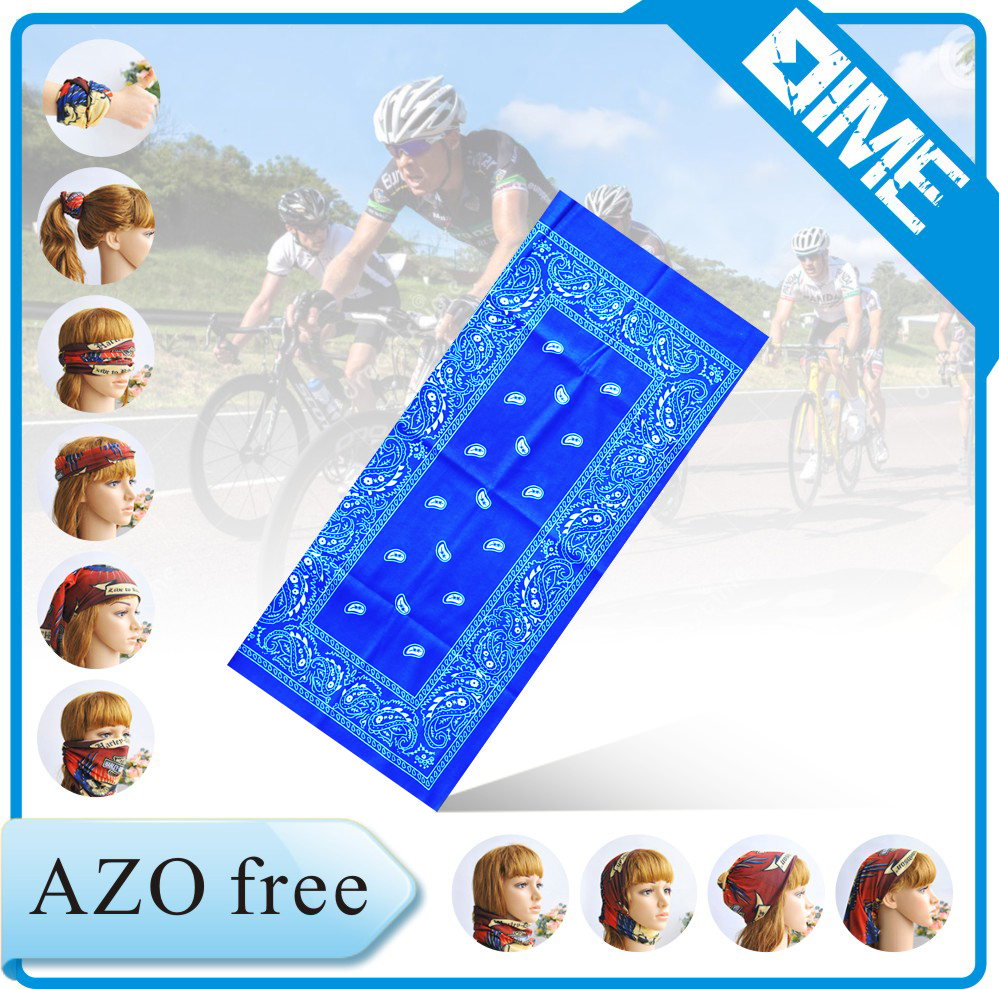 Duty Blue Skull Face Tube Mask Neck Gaiter Dust Shield Seamless Bandana