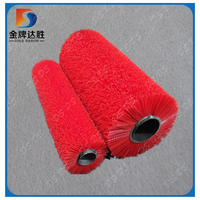 Manufacturer PP Material Strip and Crimped Wire Cleaning Roller Brush