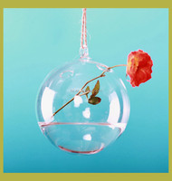 wholesale hanging glass vase, hanging glass ball for flower