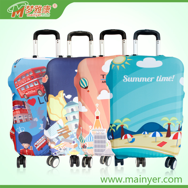 Fashion Style High Elasticity Spandex Protective Luggage Cover