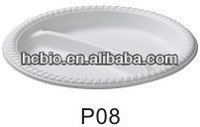 10'' 3 compartment biodegradable round plate