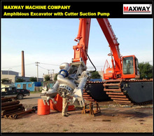 MAXWAY MACHINE COMPANY New Product ~ Cheap Submersible Cutter Suction Dredging Pump for Excavator, CE / ISO:9001
