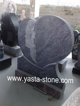 Cheap Blue Heart Granite Tombstone