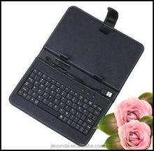 "7 inch MID keyboard pc case,USB keyboard leather case for 7"" tablet pc E-book"